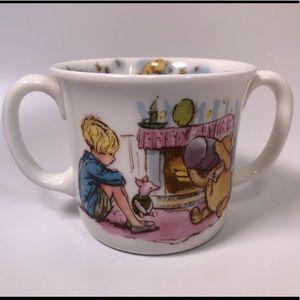 Royal Daulton kids mug  Pooh with two handles